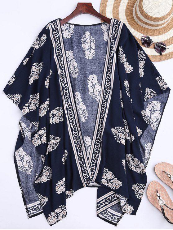 Kimono Imprimé De Feuilles