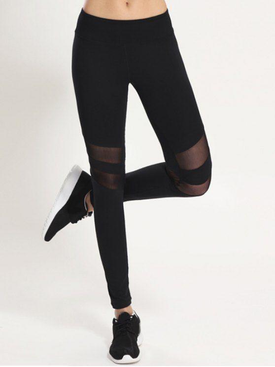 Leggings Panneau En Maille