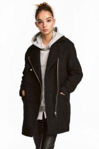 Manteau de style motard