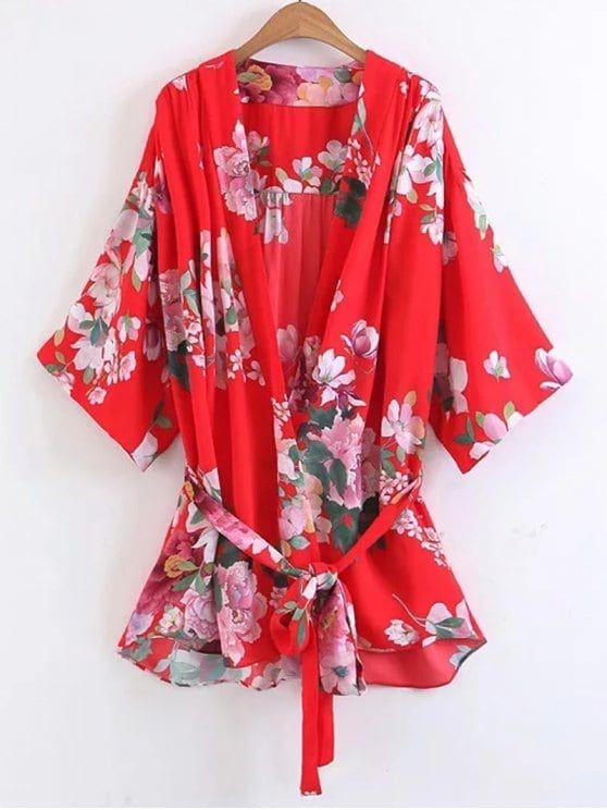 Kimono fleurie