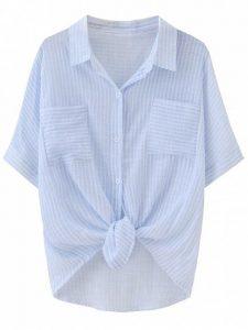 Chemise à poche rayée