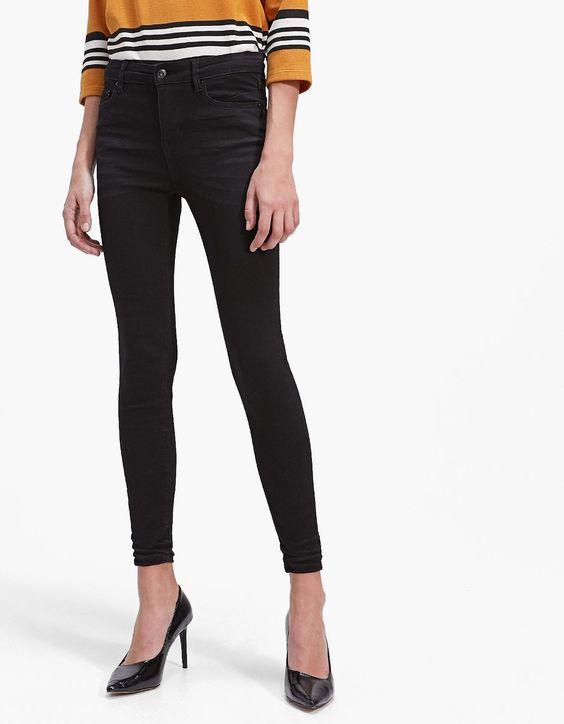 Jeans noir Stradivarius