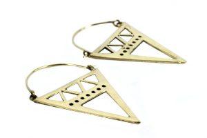 Boucles d'oreilles ethniques-triangles